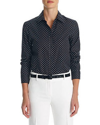No iron easy care relaxed fit polka dot shirt medium 52502
