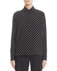 Polka dot stripe silk blouse medium 1252279