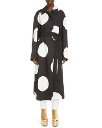 Black and White Polka Dot Coat