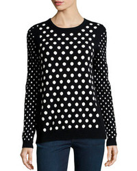Cashmere mixed polka dot sweater blackwhite medium 84313
