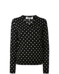 Comme Des Garcons Play Comme Des Garons Play Polka Dot Knitted Sweater