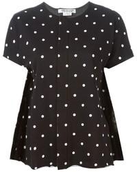 Comme Des Garcons Comme Des Garcons Comme Des Garons Comme Des Garons Polka Dot Print Panelled T Shirt