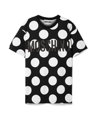 Moschino Oversized Printed Cotton Jersey T Shirt