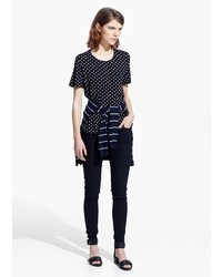 Mango Outlet Polka Dot T Shirt
