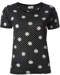Saint Laurent Daisy Print T Shirt