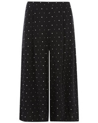 Black and white spot culotte trousers medium 78369