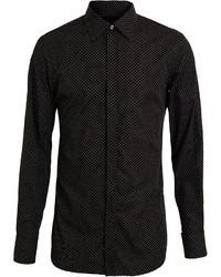 Black and White Polka Dot Dress Shirt