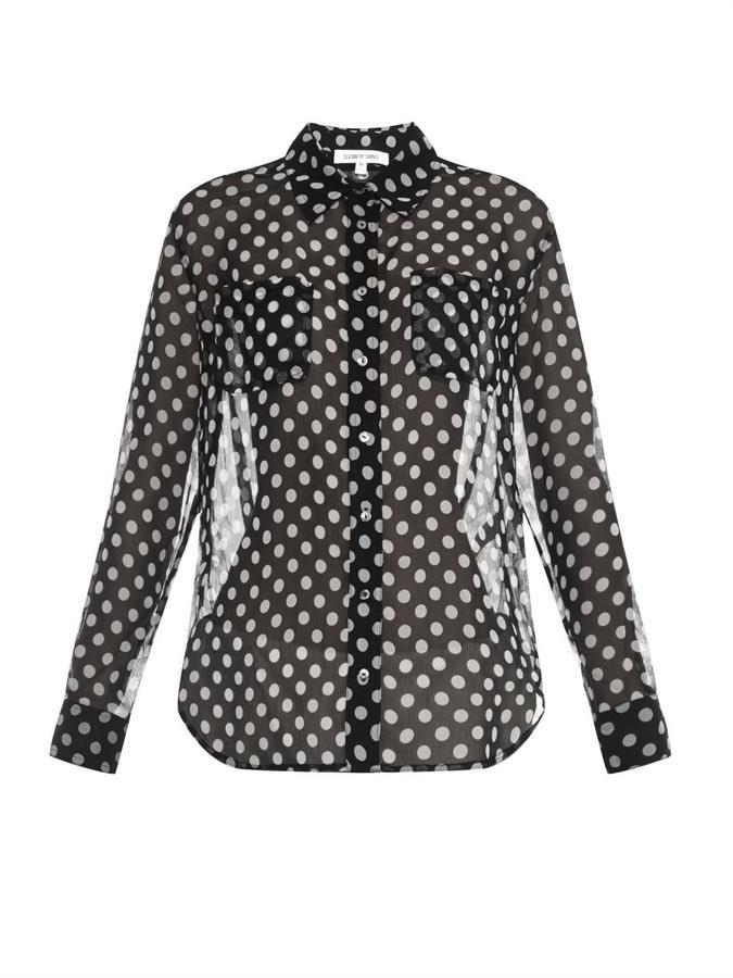 089b3c85c9ff1 ... Elizabeth and James Emmanuelle Polka Dot Silk Chiffon Shirt ...