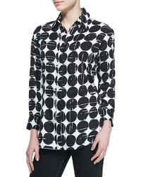 Finley Poplin Polka Dot Print Dress Shirt