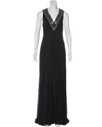 Carolina Herrera Polka Dot Evening Dress