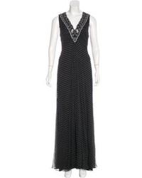 Carolina Herrera Polka Dot Silk Dress