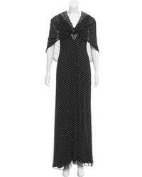 Carolina Herrera Silk Polka Dot Dress