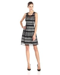 Jessica Simpson Lace Overlay Fit And Flare Dress
