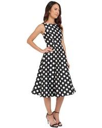 8bb304b9332 ... Adrianna Papell Polka Dot Mikado Tea Length Dress