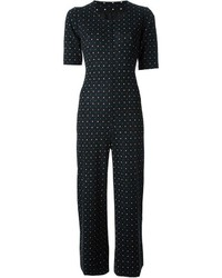 Saint Laurent Yves Vintage Polka Dot Playsuit
