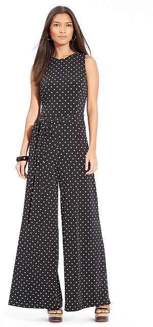 Lauren Ralph Lauren Sleeveless Polka Dot Jumpsuit Where To Buy