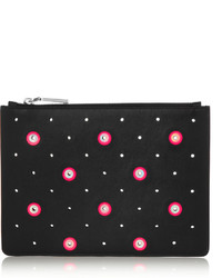 Perforated leather clutch medium 175466
