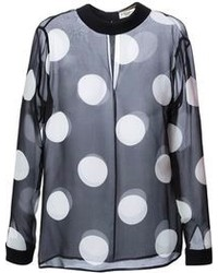 Saint laurent sheer polka dot blouse medium 92199