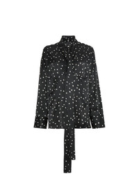Ann Demeulemeester Tie Neck Blouse With Spots