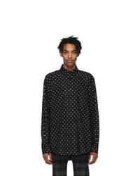 Balenciaga Black And White Bb Normal Fit Shirt