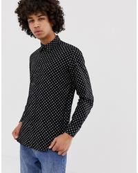 Diesel S Jirou Slim Fit Shirt In Black Spot Pattern