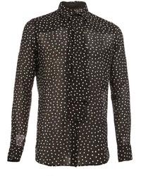 Saint Laurent Semi Sheer Polka Dot Shirt