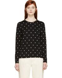 Comme des garons comme des garons black white polka dot long sleeve shirt medium 183214