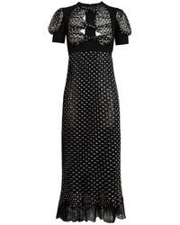Meadham Kirchhoff Lawrie Polka Dot Silk Dress
