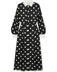 Andrew Gn Polka Dot Silk Tte Dress