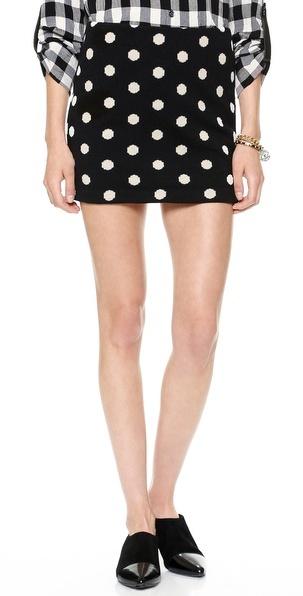 939557f690 $198, Alice + Olivia Elana Polka Dot Miniskirt