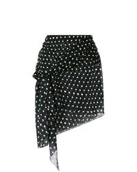 Saint Laurent Polka Dot Mini Skirt