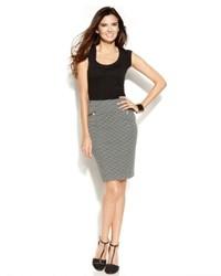 Alfani Petite Polka Dot Zippered Pencil Skirt