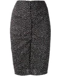 Nina Ricci Polka Dot Pencil Skirt