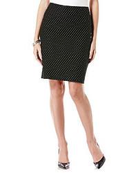 Rafaella Raflla Polka Dot Print Pencil Skirt