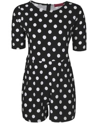 e8d96305df ... Black and White Polka Dot Playsuits Boohoo Jennie 34 Sleeve Polka Dot  Playsuit Boohoo Jennie 34 Sleeve Polka Dot Playsuit ...