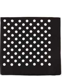 Hugo Boss Boss Polka Dot Silk Pocket Square Black