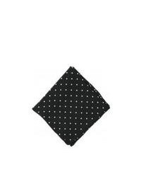 Michelsons of London Polka Dot Silk Handkerchief Black