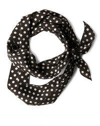 Ana Accessories Inc Bow To Stern Scarf In Black Dots