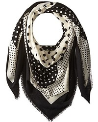 Marc by Marc Jacobs Polka Dot Square Border Scarf