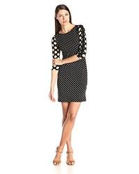 34 sleeve polka dot shift dress medium 213762