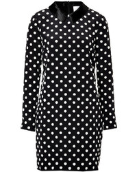 Victoria silk polka dot shift dress medium 213760
