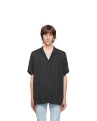 Black and White Polka Dot Short Sleeve Shirt