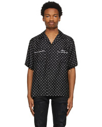 Amiri Black Silk Polka Dot Shirt