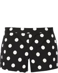 Alice + Olivia Polka Dot Print Crepe Shorts