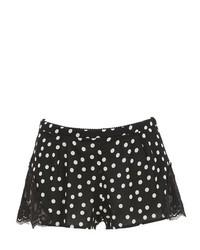 Dolce & Gabbana Polka Dot Silk Georgette Lace Shorts