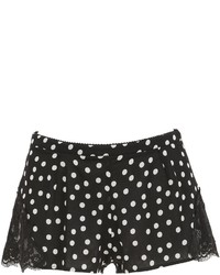 Dolce & Gabbana Polka Dot Silk Georgette Lace Shorts