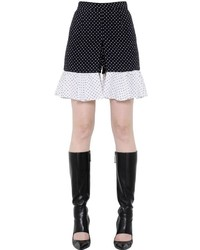 Ruffled polka dot printed crepe shorts medium 3650321