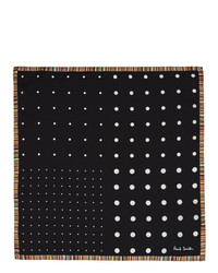 Paul Smith Black Silk Polka Dot Pocket Square
