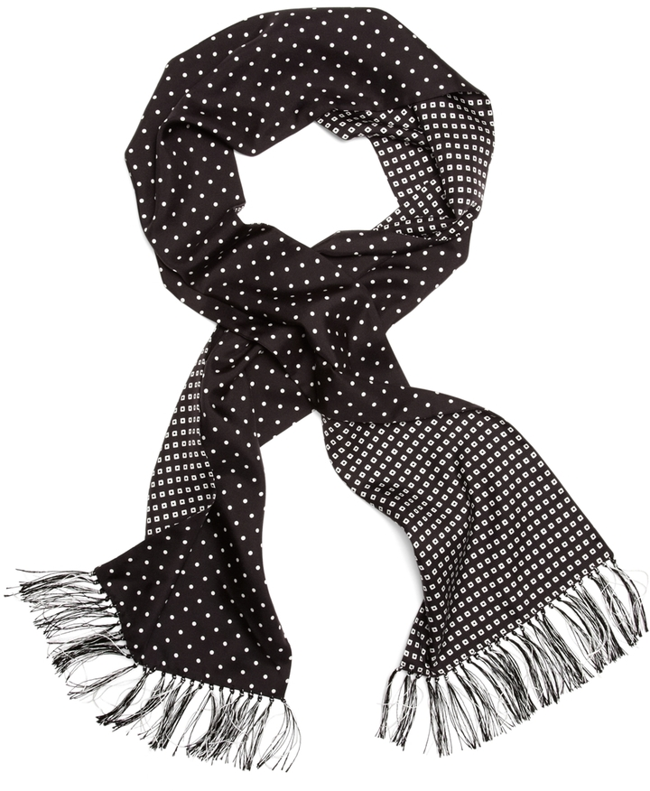 brothers silk polka dot formal scarf where to buy