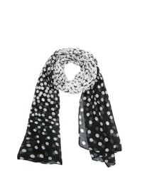 Ctm fading polka dot scarf black one size medium 322912
